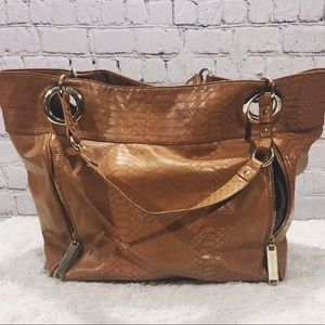 STEVE MADDEN Brown Leather Shoulder Hobo bag